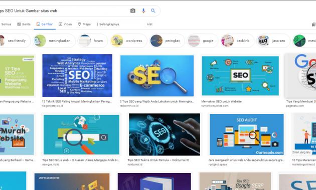 Tips SEO Untuk Gambar situs web
